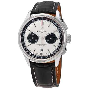 Breitling Premier Chronograph Automatic Chronometer Silver Dial