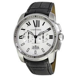 Cartier Calibre de Automatic Silver Dial Men