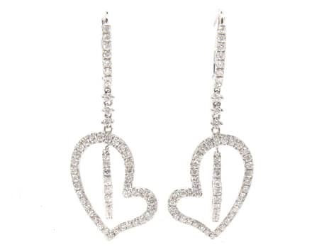 Double Heart Earrings 1.73ct