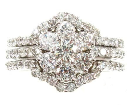 Sunflower Diamond Ring Set