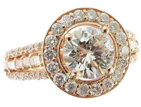 Prong Diamond Engagement Halo Ring