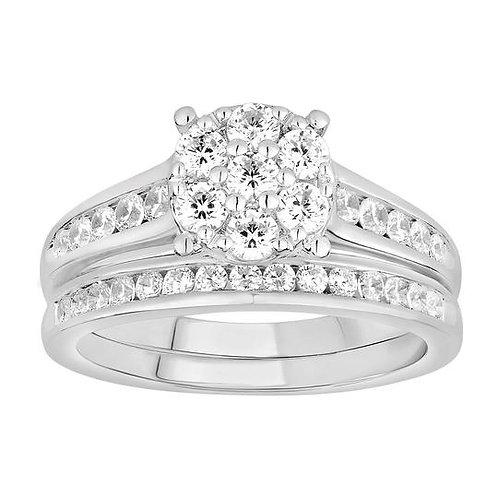 14K Solid Gold 0.98ctw Diamond Bridal