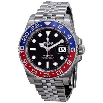 Rolex GMT-Master II Pepsi Blue and Red Bezel Stainless Steel Jubilee