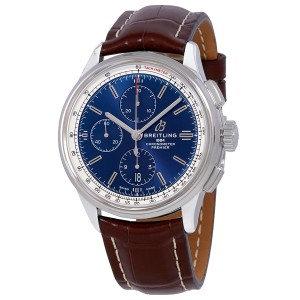 Breitling Premier Chronograph Automatic Chronometer Blue Dial