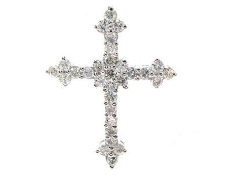 Prong Diamond Cross Crucifix