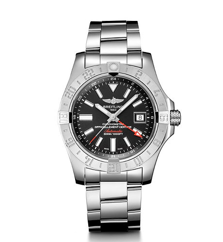 Breitling Avenger II GMT Volcano Black Dial Automatic Mens Watch