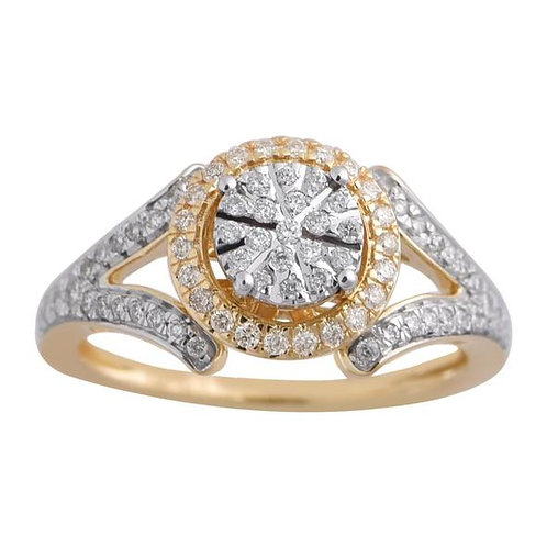 14K Solid Gold 0.40ctw Diamond