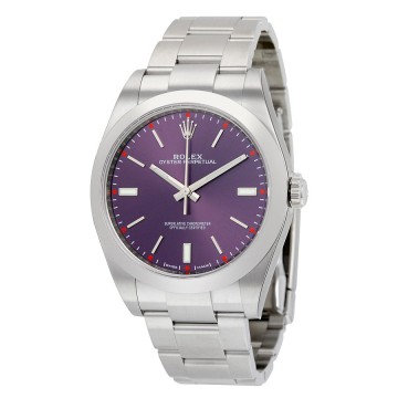 Rolex Oyster Perpetual 39 Red Grape Dial Stainless Steel