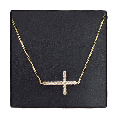 Prong Diamond Cross Crucifix