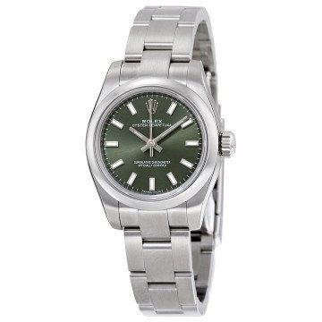 Rolex Oyster Perpetual 26 Olive Green Dial Stainless Steel Oyster Bracelet