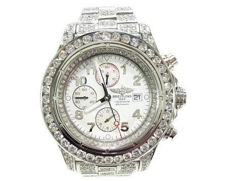Breitling Super Avenger Fully Diamond Watch 2 20.00ct