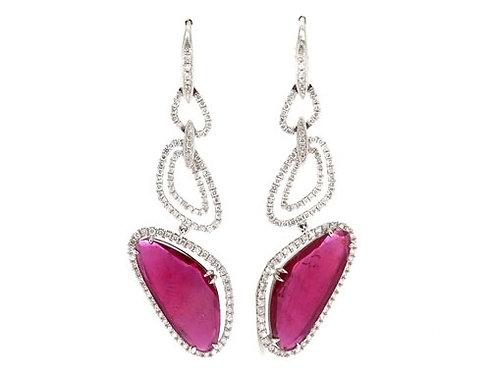 Prong Diamond Pink Ruby