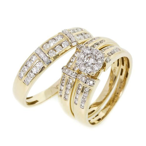 14K Solid Gold 1.05ctw