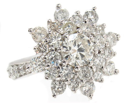 Burst Diamond Ring