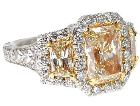 Radiant Cut Fancy Yellow Diamond
