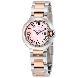 Cartier Ballon Bleu Mother of Pearl Stainless Steel and 18kt Rose Gold Ladies