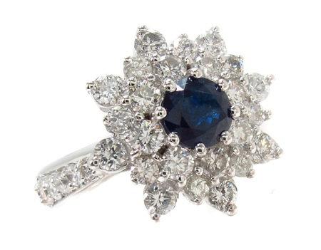 Sapphire & Diamond Bouquet Ring