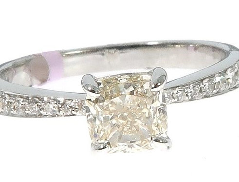 Pave & Prong Engagement Ring