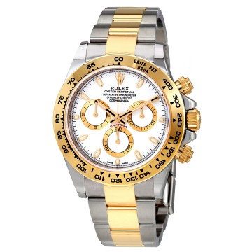 Rolex Cosmograph Daytona White Dial Stainless Steel and 18K Yellow Gold Oyster