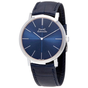 Piaget Altiplano Blue Dial Blue Leather Men