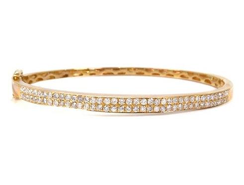 Prong Diamond Bangle 1.53ct