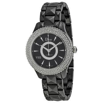 Dior VIII Automatic Diamond Black Ceramic 38 mm Ladies