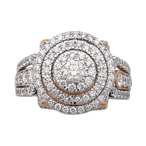 14K Solid Gold 2.05ctw Diamond Womens