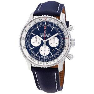 Breitling Navitimer 1 chronograph automatic chronometer aurora blue dial
