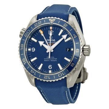 Omega Planet Ocean GMT Blue Dial 600M Titanium Automatic