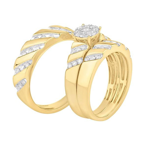 14K Solid Gold 0.85ctw