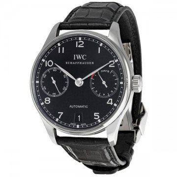 IWC Portuguese Automatic Black Dial Steel Black