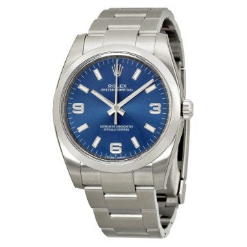 Rolex Oyster Perpetual 34 Blue Dial Stainless Steel Bracelet