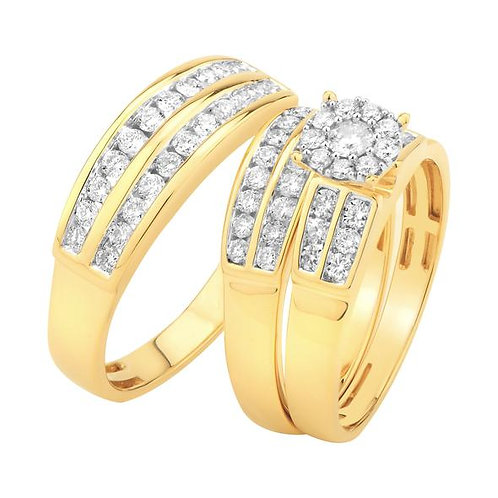 14K Solid Gold 1.20ctw