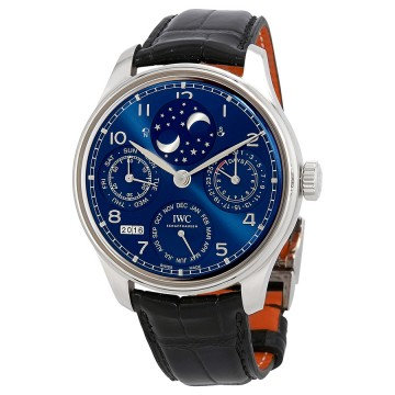 IWC Portugieser Perptual Calendar Double Moonphase 18K White Gold