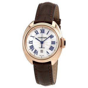 Cartier Cle Automatic Flinque Sunray Dial Ladies
