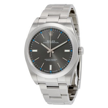 Rolex Oyster Perpetual 39 Dark Rhodium Dial Stainless Steel