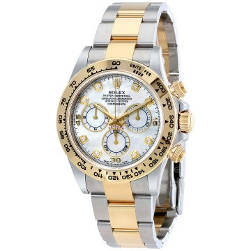 Rolex Cosmograph Daytona Mother of Pearl Diamond Steel
