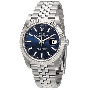 Rolex Datejust Blue Dial Automatic Men's Jubilee