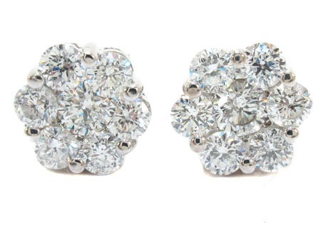 Round Cut Prong Cluster