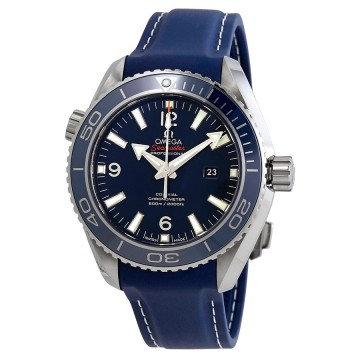 Omega Planet Ocean Titanium Co-Axial Blue Dial
