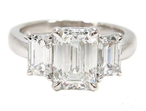 White Gold Prong Diamond Wedding Ring