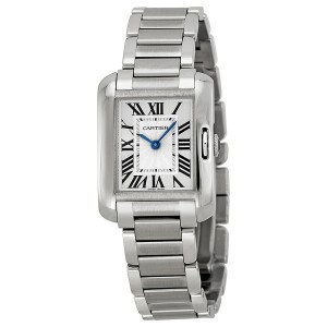 Cartier Tank Anglaise Silver Dial Ladies