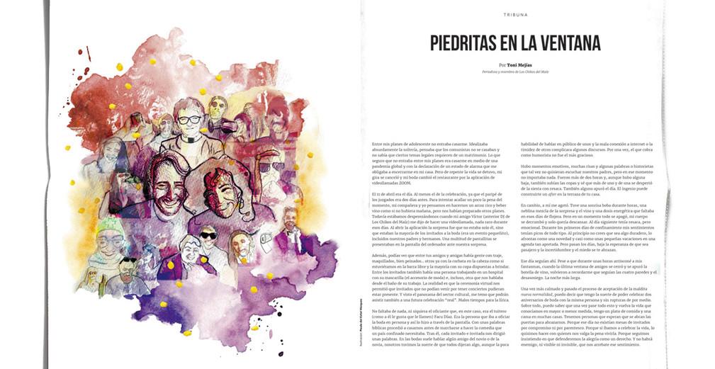 """Illustración periódico """"Público"""", 2020"""