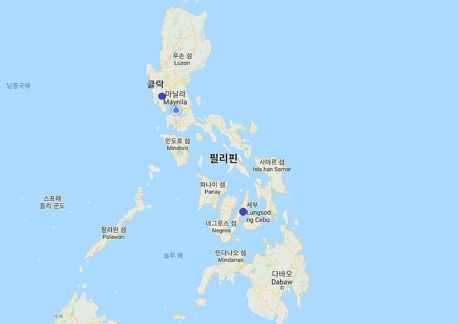 필리핀 지도