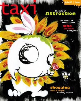 Taxi Magazine Cover Illustration