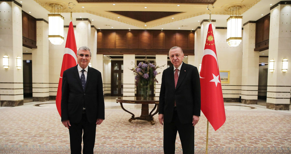Erdoğan, Ekrem Yüce ile görüştü.
