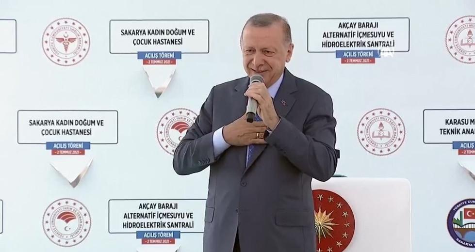 Erdoğan açılış töreninde konuştu