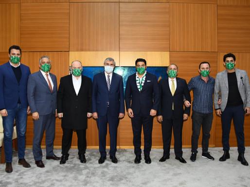 Uğur Akkuş'dan Başkan Yüce'ye ziyaret