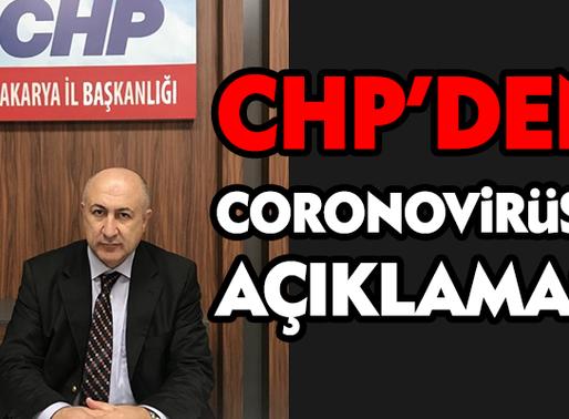 """CHP'den Coronovirü açıklaması...""""Sakarya halkı tedirgin"""""""