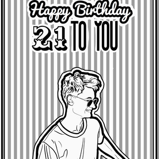PERSONALIZED BIRTHDAY CARD